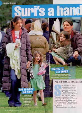 Suri Cruise with Little Giraffe in InTouch Feature
