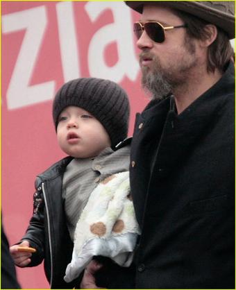 Brad Pitt with son Knox
