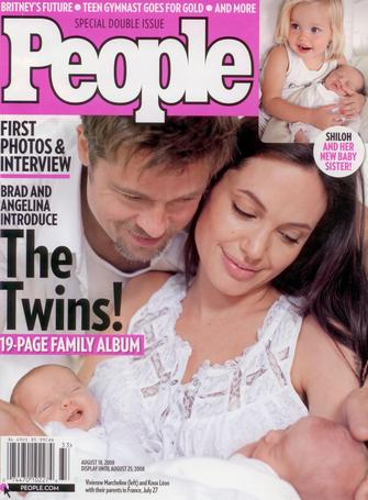 People Magazine: Brad & Angelina: The Twins!