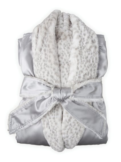 Luxe™ Satin Snow Leopard Cover Up