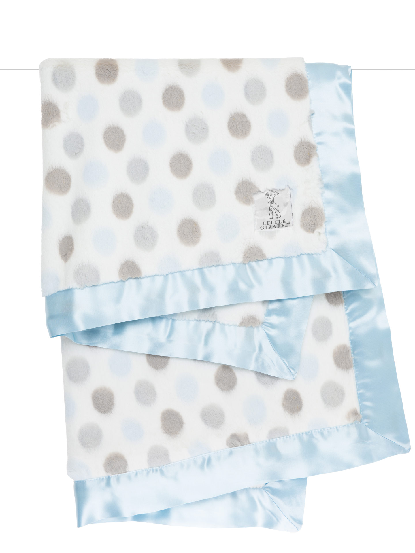 "Little Giraffe Luxe Blanket Blue Comfort  29"" x 35"""