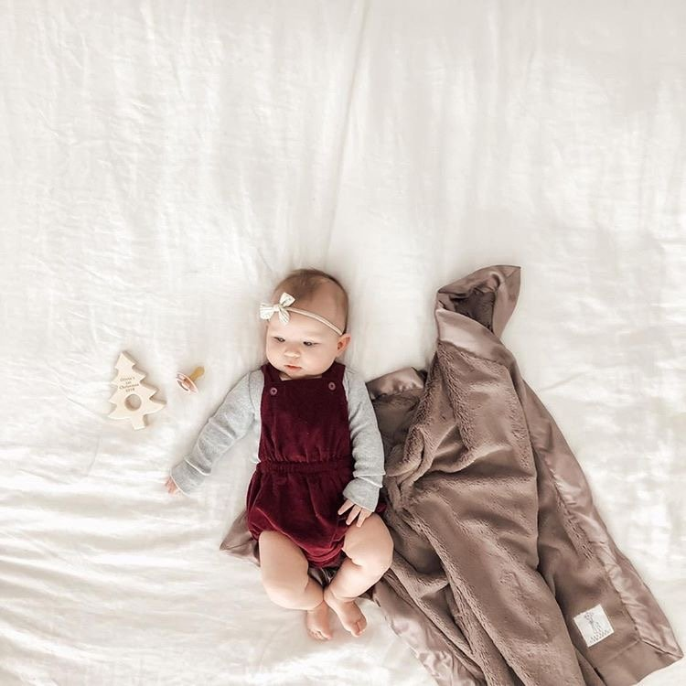 The holidays are around the corner...and so is our Black Friday sale! Stay tuned - it all starts tomorrow! Pictured: Luxe Baby Blanket in Taupe