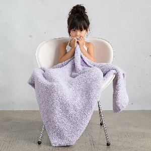 Flash Sale! Our beloved Plush Chenille Baby Blanket is only $39 (orig. $64) now through Tuesday - while supplies last! Available in Lavender and Silver.