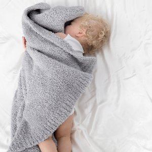 Our Plush Chenille Knit Baby Blanket is back by popular demand and available in our most coveted colors - pink, blue and silver!
