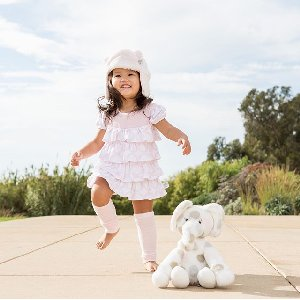 Summer may look a little different this year, but we're finding joy in the simple moments - like skipping in the sun with our Little E Plush Toy.